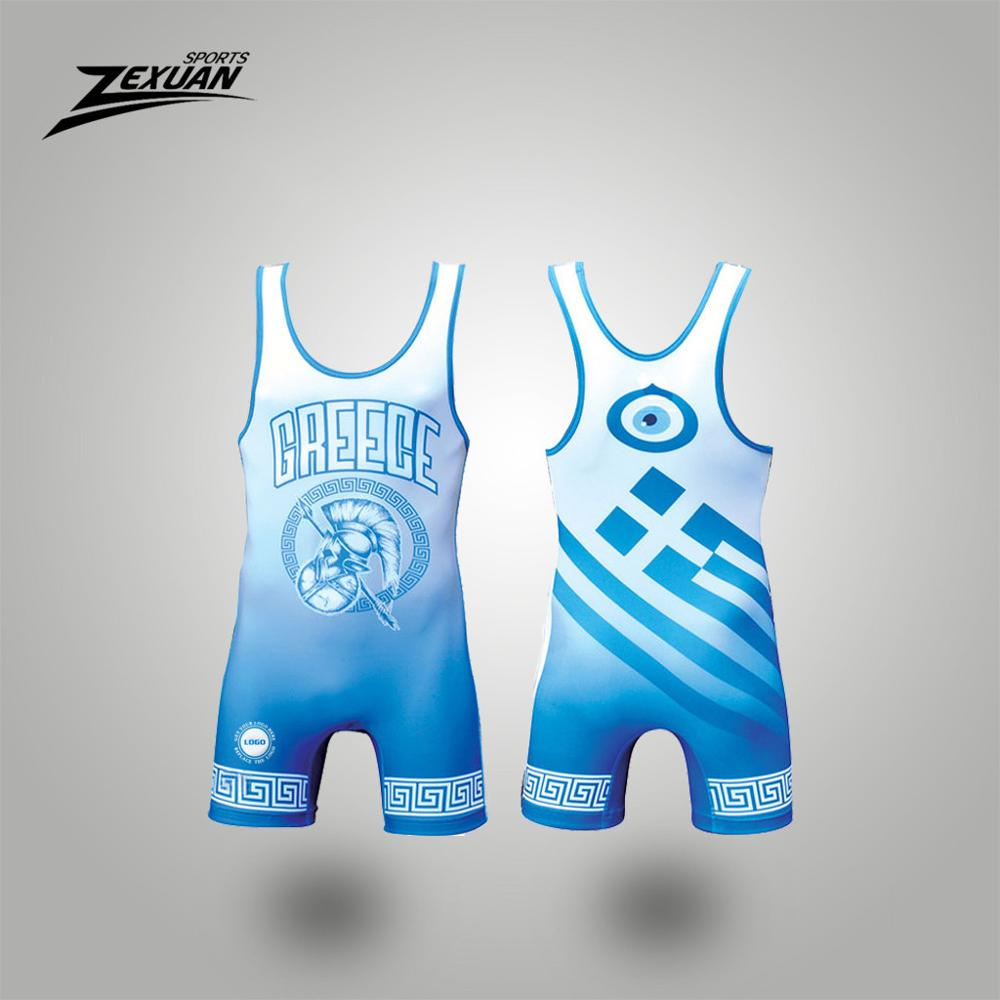 High quality 3d printing spartans powerlifting wrestling singlet