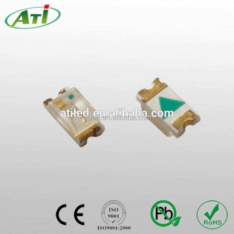 Best selling 1206 led components amber green flat top led 3mm full color