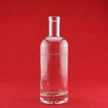High quality 250ml glass bottle tequila blue bottle brown glass square bottle