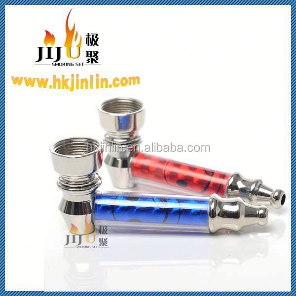 Top Sell Yiwu jiju JL-197 China Smoking Accessories High Quality Metal Tobacco Pipes For Cigarette