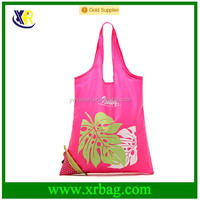 Custom promotional fruit shape foldable shopping bags