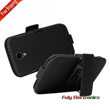 For Samsung Galaxy S4 i9500 360 rotate Swivel Belt Clip Holster PC Case Stand Cover
