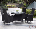 4 Seater Round Complete Classic Outdoor Rattan Table Chair Sets