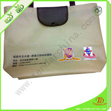 Non Woven For Shopping Folding By Plastic Button Foldable Tote Bag