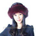 CX-C-156A Women New Design Trapper Knitted Real Mink Fur Hat