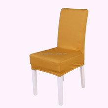 universal plain style spandex polyester half back chair covers