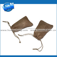 New fashion Hot sell low price jute burlap makeup bags pouchs with drawstring