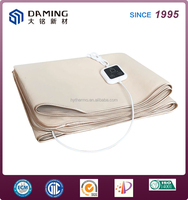China supplier luxury 20V 220v Polyester Electric Heated Blanket