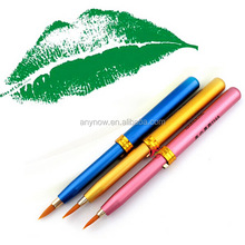Pocket Mini Colorful Metal Casing Synthetic Fiber Retractable Lip brush