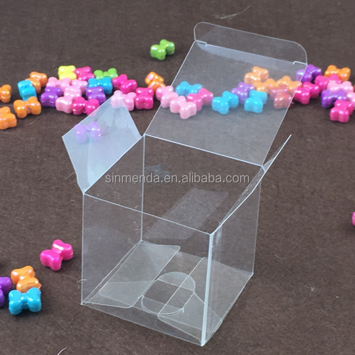 4x4x4cm Clear PVC favor Packaging boxes transparent plastic gift display package square Box