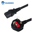 High quality UK BS1363 plug to IEC C13 ac power cable for rice cooker,pc