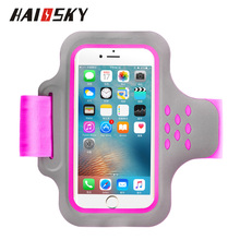 HAISSKY 5.5inch Fashion Mobile Phone Reflective Armbands Gym Running Sport Arm Band Cover For iphone 7plus/8plus/x