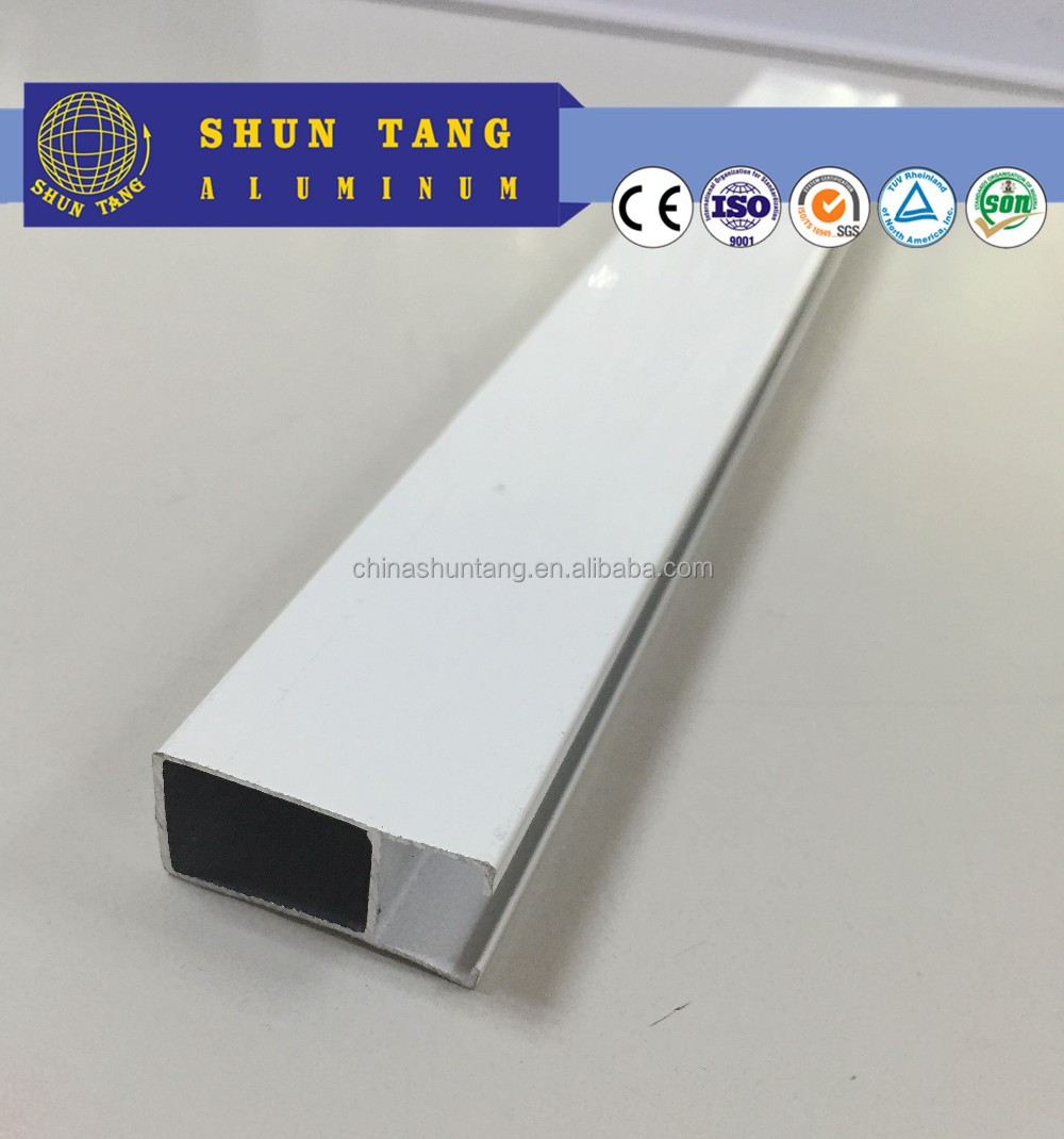 6063 T5/T6 alloy powder coating aluminium channel for glass
