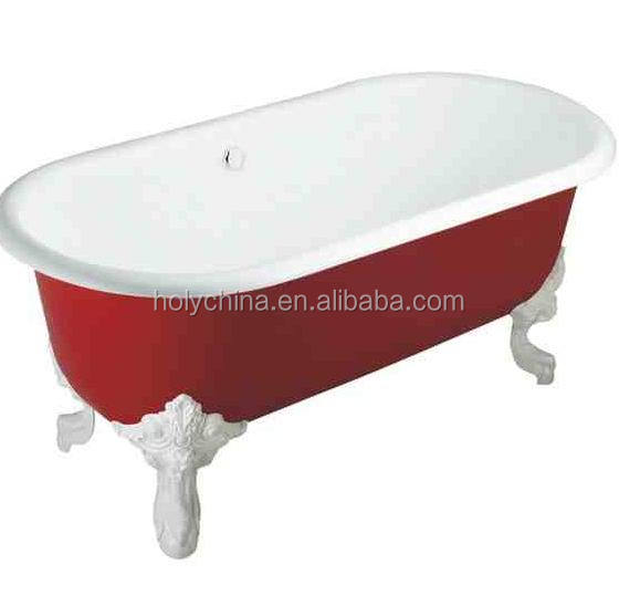 hot sale high quality red bathtub