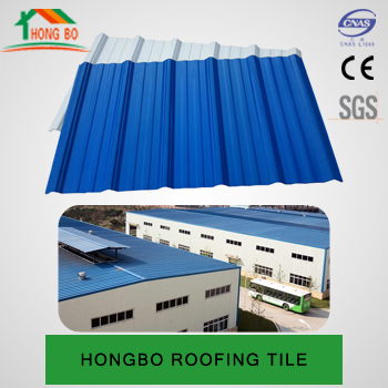 trapezoidal wave type 3 layer heat insulated upvc roofing tile supplier
