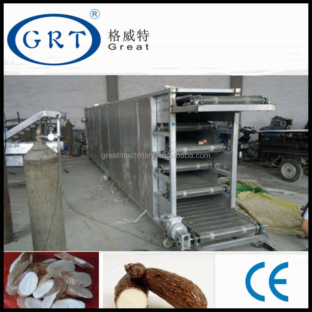 industrial continuous belt cassava chip/ red chilli/ onion dryer machine