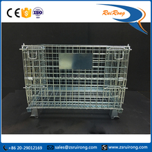 zhongshan logistcis wire metal steel mesh pallet roll storage cage