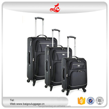 "2016 hot selling 3pcs beautiful sets 20""24""28"" men luggage trolley 4 wheels nylon trolleys and suitcases"