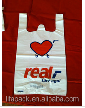 plastic market shopping handling carrier t-shirt bags high quality wholesale