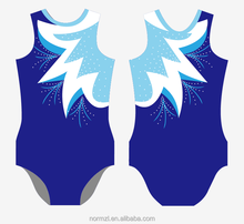 Custom sublimated printing child colorful gym suit leotard for girls