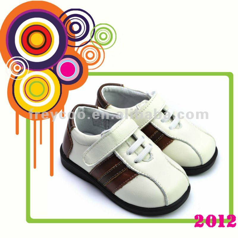 100% genuine leather guerantee children leather shoes PB-8005WH