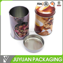 high quality round box tin case for coffee packaging/coffee tin can