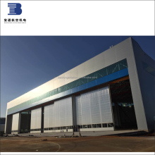 Exterior bottom rails automatic/manual steel sliding hangar door