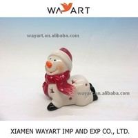 Wholesale manufacture christmas porcelain ceramic snowman