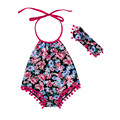 Summer boutique baby clothing rompers baby girl sunsuit fashion design baby rompers
