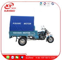 New Style KAVAKI 150CC Gasoline Motor Tricycle With Tent