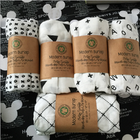 organic cotton gots muslin swaddle custom printed blankets