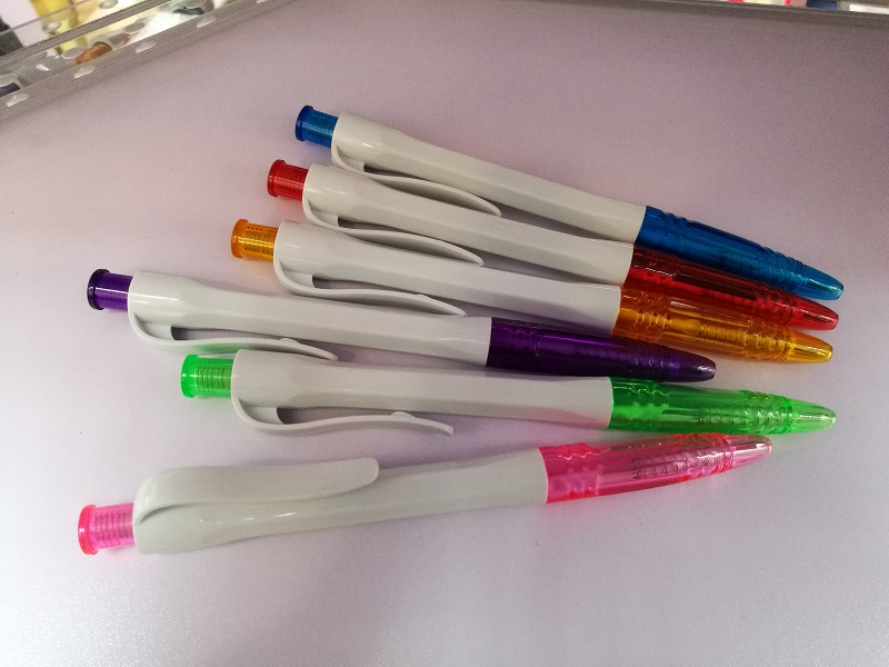 cheap price hot selling solid white pen with hexagonal barrel