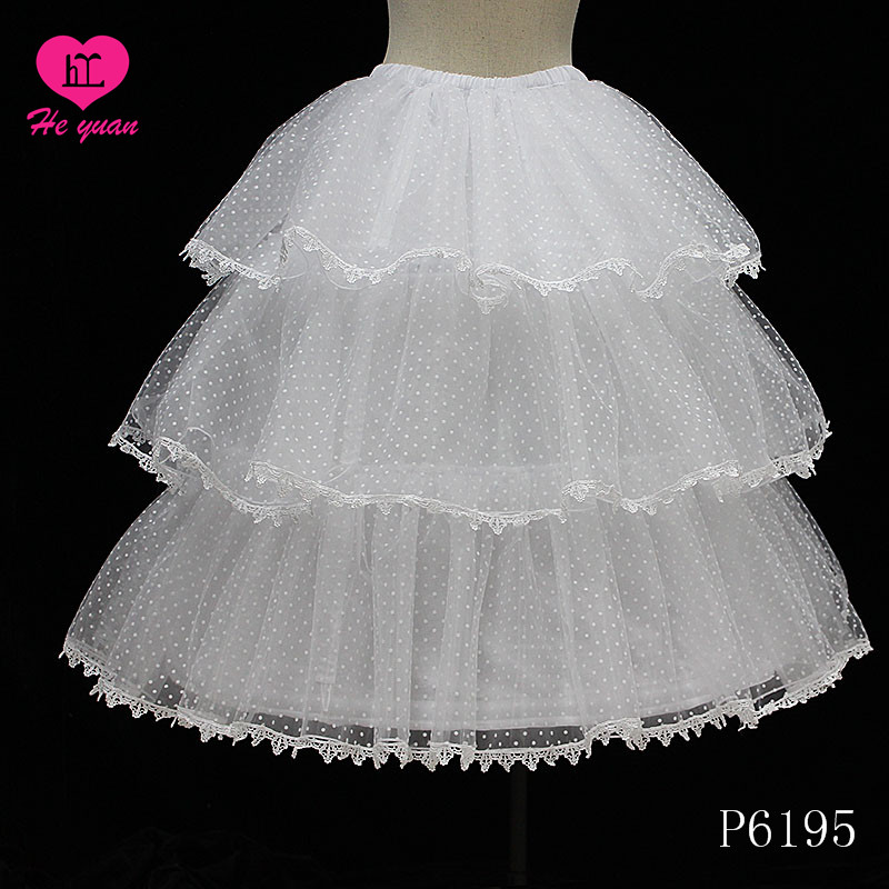 P6067-2 Hot Sale Beautiful Two Hoops Wedding Dress Underskirt wedding dress petticoat