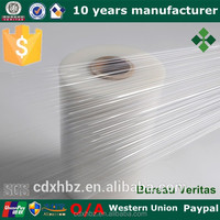 Xinhe 3 76mm paper core lldpe stretch film for pallet packing
