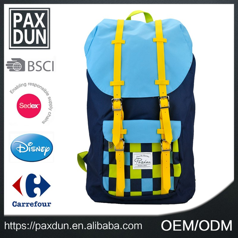 2017 top sale fashion daypack 600D school backpack