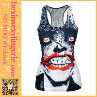 custome printed sport wholesale cheap hot girls sexy tank top