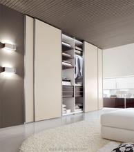Wall to wall sliding wardrobe doors, plywood wall almirah designs