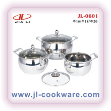 rolled edge apple shape cookware set(JL-0601)NEW PRODUCTS cooking pot set