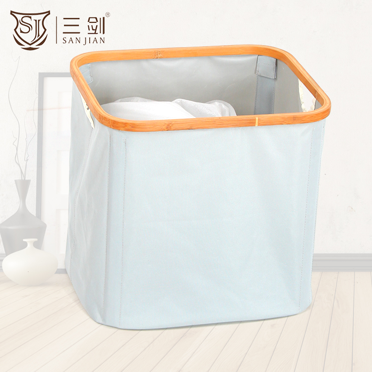 Largest Capacity Environmental Disassemble Bath Dirty Cloth Bamboo Folding Laundry Basket With Legs