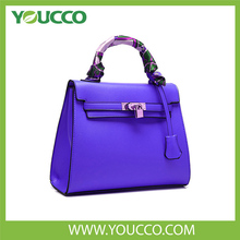 Wholesale china branded designer woman genuine leather lady handbag