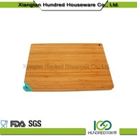 Excellent bamboo custom size kitchen firut cutting board with groove and sharpener