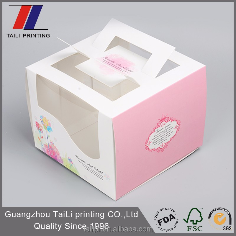 Custom Pastry Boxes/Cake Packaging/Paper Cake Boxes With Window