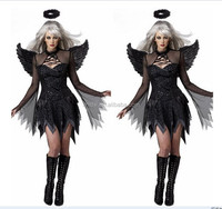 Sexy halloween costumes for women cosplay dress with wing
