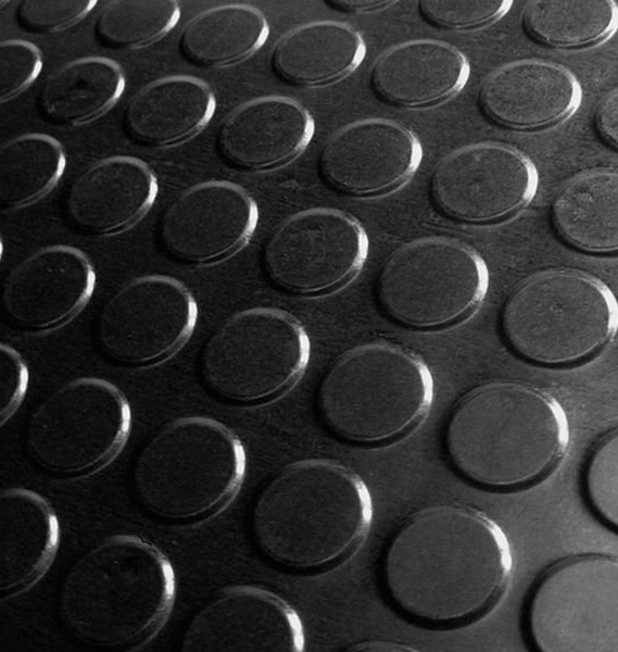 Customized Large Round Button/ Stud/Coin  Rubber Flooring