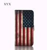accessories phone OEM&ODM custom USA country flag printing leather flip back cover case for moto xt910