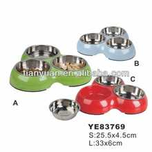 2014 triple Dog bowl Pet Dishes Feederers