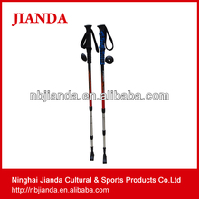 aluminum walking climbing carved wood folding nordic stick cane trekking poles(JD-3D-002) making supplies wholesale hike