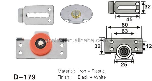 aluminium sliding door rollers plastic cabinet track roller heavy duty sliding door roller