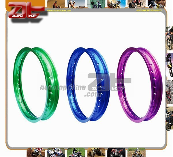 Motorcycle Aluminium Wheel Rim With Yellow Red Blue Black Color