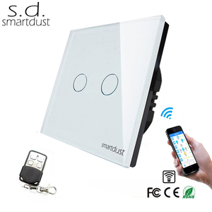 EU Smartdust New Wireless RF WIFI light switches for home automation smart home Remote controlled by mobile phone No gateway